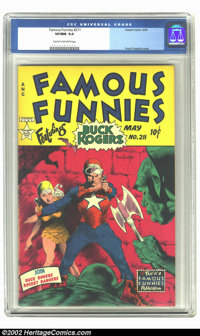 Famous Funnies #211 (Eastern Color, 1954) CGC VF/NM 9.0 Cream to off-white pages. A spectacular copy of this sci-fi favo...