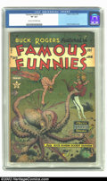 Golden Age (1938-1955):Science Fiction, Famous Funnies #215 (Eastern Color, 1955) CGC VF 8.0 Cream to off-white pages. The late 1940s and early 1950s featured some ...