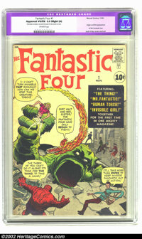 Fantastic Four #1 (Marvel, 1961) CGC Apparent VG/FN 5.0 Slight (A) Off-white pages. The only restoration is a very small...