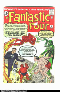 Fantastic Four #6 (Marvel, 1962) Condition = GD. Classic early Marvel Silver Age featuring Sub-Mariner and Doctor Doom...