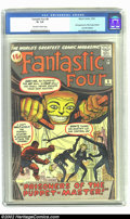 Silver Age (1956-1969):Superhero, Fantastic Four #8 (Marvel, 1962) CGC GD+ 2.5 Off-white to white pages. 1st appearance of Puppet Master; 1st appearance of Al...