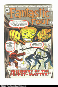 Fantastic Four #8 (Marvel, 1962) Condition = GD/VG. First appearance of the Puppet Master and Alicia Masters. Great earl...