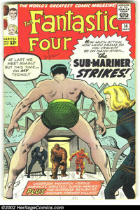 Fantastic Four #14 (Marvel, 1963) Condition: FN-. Sub-Mariner crossover. Overstreet 2002 FN 6.0 value = $90