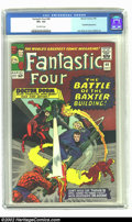 Silver Age (1956-1969):Superhero, Fantastic Four #40 (Marvel, 1965) CGC VF+ 8.5 Off-white pages. Daredevil appearance. Overstreet 2002 VF 8.0 value = $73; NM ...