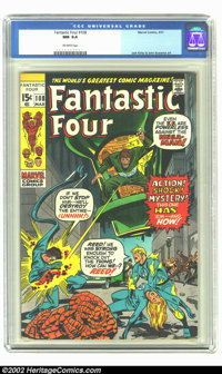 Fantastic Four #108 (Marvel, 1971) CGC NM 9.4 Off-white pages. Jack Kirby and John Buscema art. Overstreet 2002 NM 9.4 v...