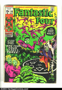 Fantastic Four #110 Color Reversal Variant (Marvel, 1971) Condition = GD-. This unusual, scarce variant occurred because...