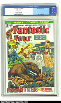Fantastic Four #118 (Marvel, 1972) CGC NM+ 9.6 Off-white to white pages. Crystal appearance; Versus Diablo; Lockjaw appe...