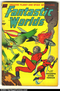 Fantastic Worlds 5 (#1) (Standard, 1952) Condition: VG-. Beautiful artwork by Alex Toth and Anderson. Overstreet 2002 GD...