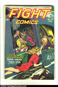 Fight Comics #48 (Fiction House, 1947) Condition = VG. Features Tiger Girl. Overstreet 2002 GD 2.0 value = $24; FN 6.0 v...
