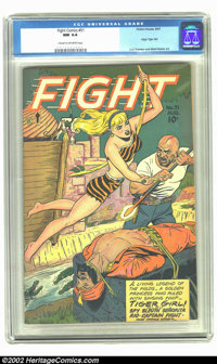 "Fight Comics #51 (Fiction House, 1947) CGC NM 9.4 Cream to off-white pages. This great title is rife with ""good gir..."