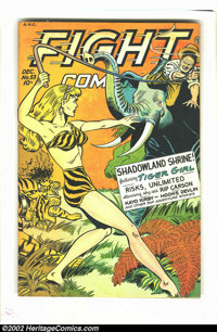 Fight Comics #53 (Fiction House, 1947) Condition = VG. Features Tiger Girl. Overstreet 2002 GD 2.0 value = $22; FN 6.0 v...