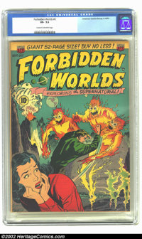Forbidden Worlds #2 (ACG, 1951) CGC VF- 7.5 Cream to off-white pages. Overstreet 2002 VF 8.0 value = $412. From the coll...