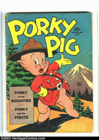 Four Color #48 (Dell, 1944) Condition: GD-. Porky Pig of the Mounties by Carl Barks. Overstreet 2002 GD 2.0 value = $96...