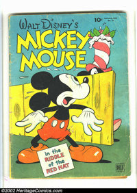 Four Color #79 (Dell, 1945) Condition: GD-. Walt Disney's Mickey Mouse in The Riddle of the Red Hat by Carl Barks. Overs...