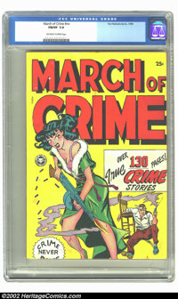 Fox Giants March of Crime nn (Fox, 1948) CGC FN/VF 7.0 Off-white to white pages. This hard to find issue featured remain...