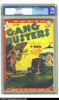 Gang Busters #7 Mile High pedigree (DC, 1949) CGC VF/NM 9.0 Off-white to white pages. Beautiful Mile High (Edgar Church)...