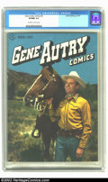 Golden Age (1938-1955):Western, Gene Autry Comics #6 (Dell, 1947) CGC VF/NM 9.0 Off-white to white pages. Super cool photo covers on front and back. Overstr...
