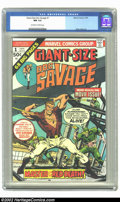 Bronze Age (1970-1979):Superhero, Giant-Size Doc Savage #1 (Marvel, 1975) CGC NM 9.4 Off-white to white pages. Ross Andru art. Overstreet 2002 NM 9.4 value = ...
