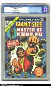 Giant-Size Master of Kung Fu #1 (Marvel, 1974) CGC NM+ 9.6 Off-white to white pages. Paul Gulacy and Dan Adkins art. Ove...