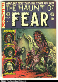 The Haunt of Fear #14 (EC, 1952) Condition: GD. Origin Old Witch by Graham Ingels. Spine splits. Overstreet 2002 GD 2.0...