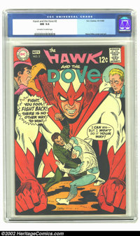 Hawk and Dove #2 (DC, 1968) CGC NM 9.4 Off-white to white pages. Beautiful Steve Ditko cover and art. Overstreet 2002 NM...