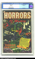 Golden Age (1938-1955):Horror, Horrors #13 Bethlehem pedigree (Star, 1953) CGC VF 8.0 Off-white towhite pages. How can this beautiful L.B. Cole cover stil...