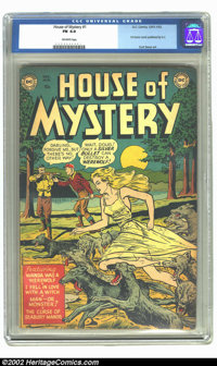 """House of Mystery #1 (DC, 1952) CGC FN 6.0 Off-white pages. DC's first horror comic features the cover story """"Wanda..."""