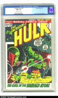 Bronze Age (1970-1979):Superhero, The Incredible Hulk #148 (Marvel, 1972) CGC NM+ 9.6 Off-white to white pages. Overstreet 2002 NM 9.4 value = $12....