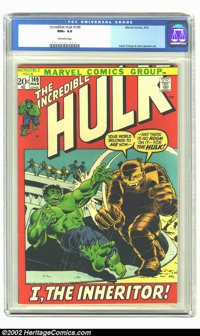 The Incredible Hulk #149 (Marvel, 1972) CGC NM+ 9.6 Off-white pages. 1st appearance of Inheritor. Overstreet 2002 NM 9.4...