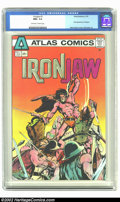 Bronze Age (1970-1979):Superhero, Ironjaw #1 (Atlas, 1975) CGC NM+ 9.6 Off-white to white pages. First appearance of Ironjaw; Neal Adams cover, Sekowsky art. ...