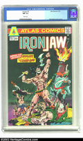 Bronze Age (1970-1979):Superhero, Ironjaw #3 (Atlas, 1975) CGC NM 9.4 White pages. Pablo Marcos cover and art. Overstreet 2002 NM 9.4 value = $5. From the col...