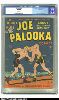 Joe Palooka Comics #7 (Harvey, 1946) CGC NM 9.4 Off-white pages. Overstreet 2002 NM 9.4 value = $135