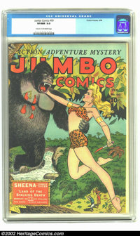 Jumbo Comics #60 (Fiction House, 1944) CGC VF/NM 9.0 Cream to off-white pages. Overstreet 2002 NM 9.4 value = $330