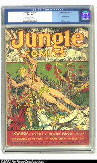 Jungle Comics #6 (Fiction House, 1940) CGC VG 4.0 Cream to off-white pages. An outstanding cover by Will Eisner highligh...