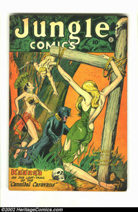 Jungle Comics #99 (Fiction House) Condition = VG-. Features Ka'a'nga and Wambi. Overstreet 2002 GD 2.0 value = $19; FN 6...