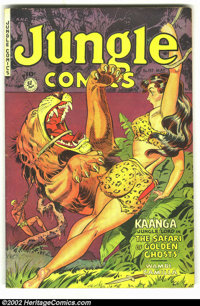 Jungle Comics #137 (Fiction House, 1951) Condition: FN. Beautiful cover in the classic Fiction House style. Overstreet 2...