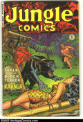 Golden Age (1938-1955):Adventure, Jungle Comics #138 (Fiction House, 1951) Condition: VG+. Overstreet 2002 GD 2.0 value = $17; FN 6.0 value = $51....