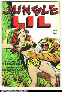 Jungle Lil #1 (Fox Features Syndicate, 1950) Condition: FN-. Rarely seen first issue from Fox. Overstreet 2002 FN 6.0 va...
