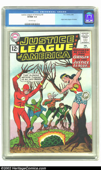 Justice League of America #9 (DC, 1962) CGC VF/NM 9.0 Off-white pages. Origin of the Justice League. Overstreet 2002 NM...