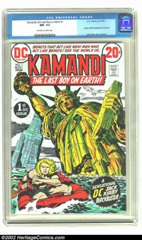 Kamandi, the Last Boy on Earth #1 (DC, 1972) CGC NM- 9.2 Off-white to white pages. Jack Kirby story and art tells origin...