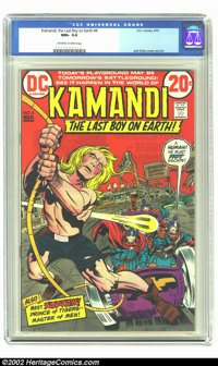Kamandi, the Last Boy on Earth #4 (DC, 1973) CGC NM+ 9.6 Off-white to white pages. Jack Kirby cover and art. Overstreet...