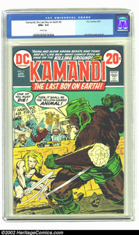 Kamandi, the Last Boy on Earth #5 (DC, 1973) CGC NM+ 9.6 White pages. Jack Kirby cover and art. Overstreet 2002 NM 9.4 v...