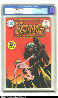 Kong the Untamed #1 (DC, 1975) CGC NM+ 9.6 Off-white to white pages. Berni Wrightson cover; Alcala art. Overstreet 2002...