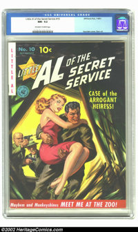 Little Al of the Secret Service #10 (#1) High Sierra pedigree (Ziff-Davis, 1951) CGC NM- 9.2 Off-white to white pages. F...