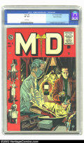 Golden Age (1938-1955):Miscellaneous, M.D. #3 Gaines File pedigree (EC, 1955) CGC VF 8.0 White pages. A very flat and very bright book, the only imperfections see...