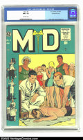 "Golden Age (1938-1955):Miscellaneous, M.D. #4 Gaines File pedigree 12/12 (EC, 1955) CGC NM- 9.2 Off-white pages. A ""slice of life"" cover by the great Johnny Craig..."