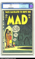 Golden Age (1938-1955):Humor, Mad #1 (EC, 1952) CGC VF+ 8.5 Off-white pages. First satire comic; Wood, Elder and Davis art. Overstreet 2002 VF 8.0 value =...