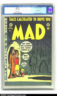 Mad #1 (EC, 1952) CGC VG+ 4.5 Off-white pages. If you've been dazed and confused, even appalled and perturbed by the ris...