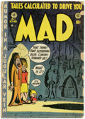 Golden Age (1938-1955):Humor, Mad #1 (EC, 1952) Condition = FR (complete). Celebrate the 50th Anniversary of Mad by adding this key issue to your coll...