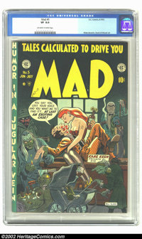 Mad #5 (EC, 1953) CGC VF 8.0 Off-white to white pages. Bill Elder takes his turn at cover art (but wouldn't get another...